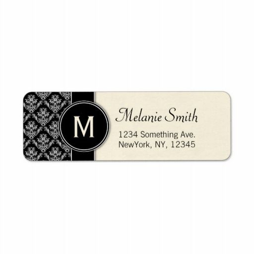 Shop elegant damask custom return address labels ivory created by personalize it with photos text or purchase as is