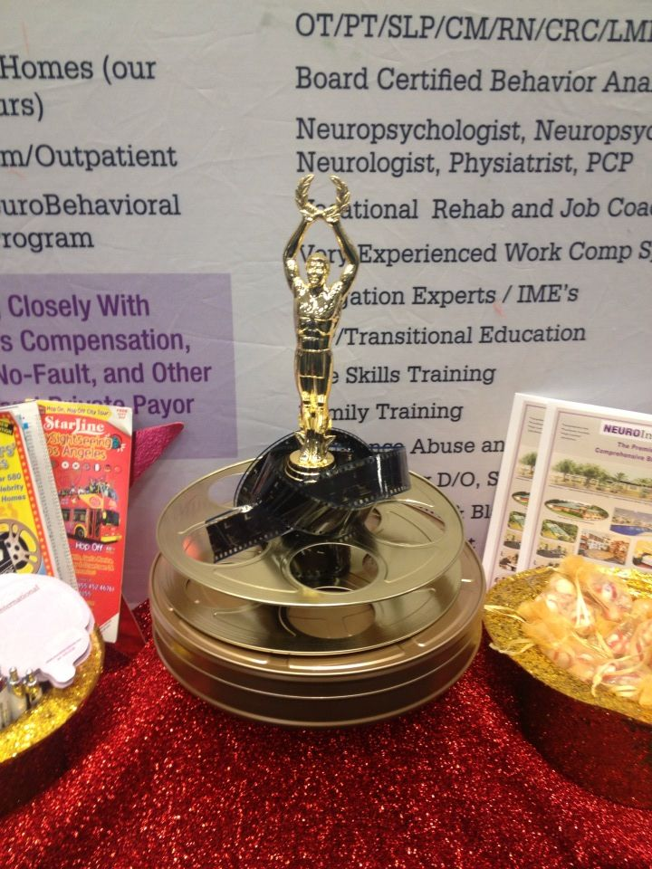 Trophy prop with film reel, film canister and film  Ordered