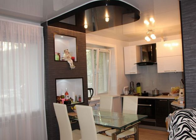 кухня+гостиная в хрущевке фото