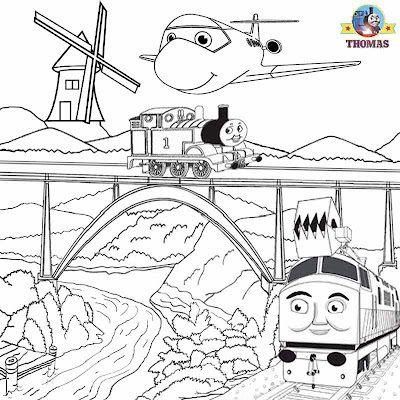 Summer Kids activities Thomas train picture sheets magic railroad ...