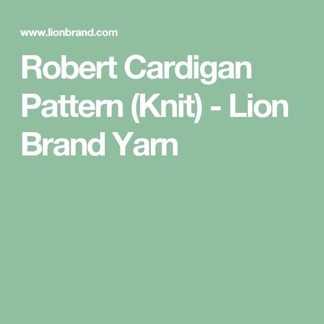 Robert Cardigan Pattern Knit Lion Brand Yarn Baby 1