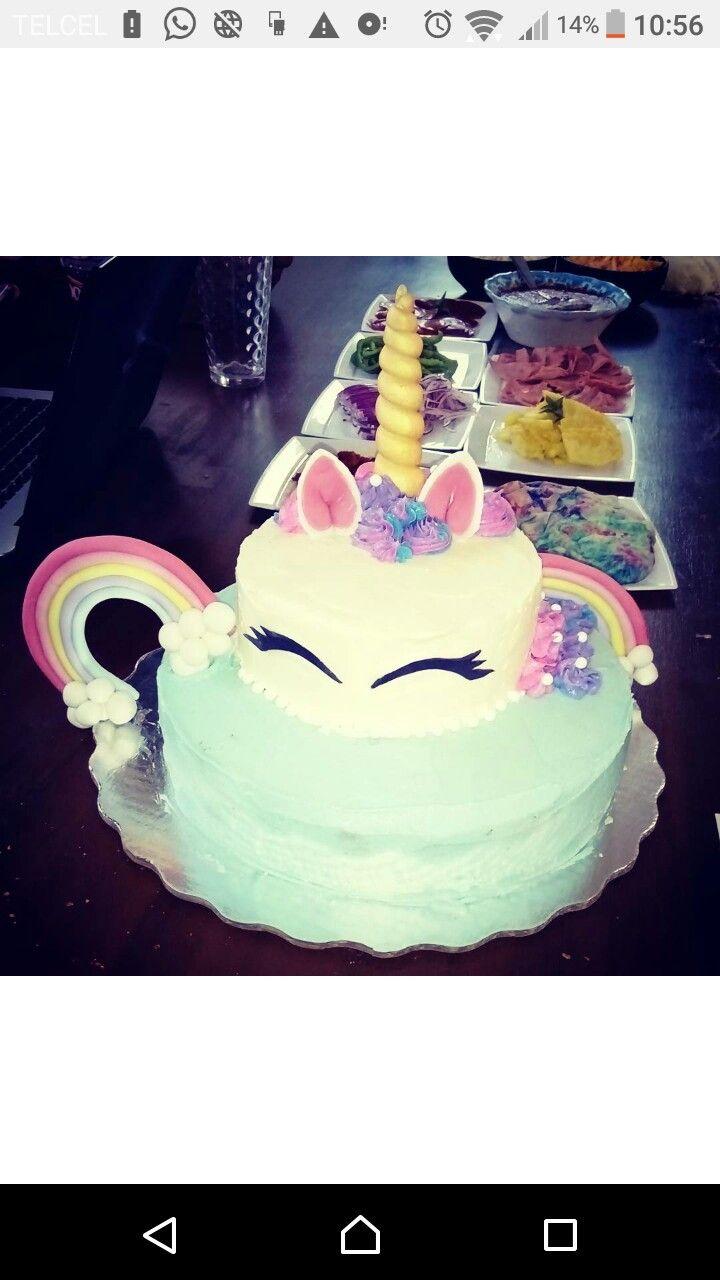 Unicorn cake pastel unicornio