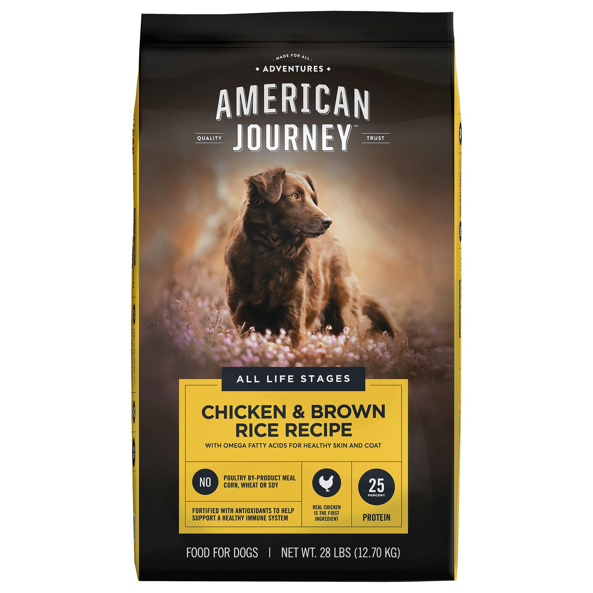 American Journey Dry Dog Food Natural Chicken And Brown Rice