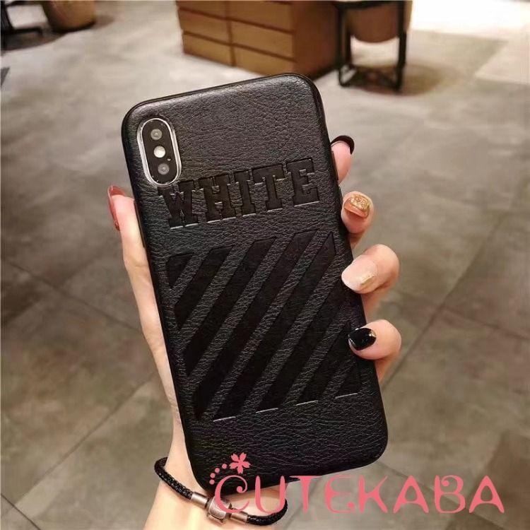 e3380de81f Off-White iphoneレザーケース ソフト iphonexs/xrカバー 大人可愛い ファッションブランドiPhonexs