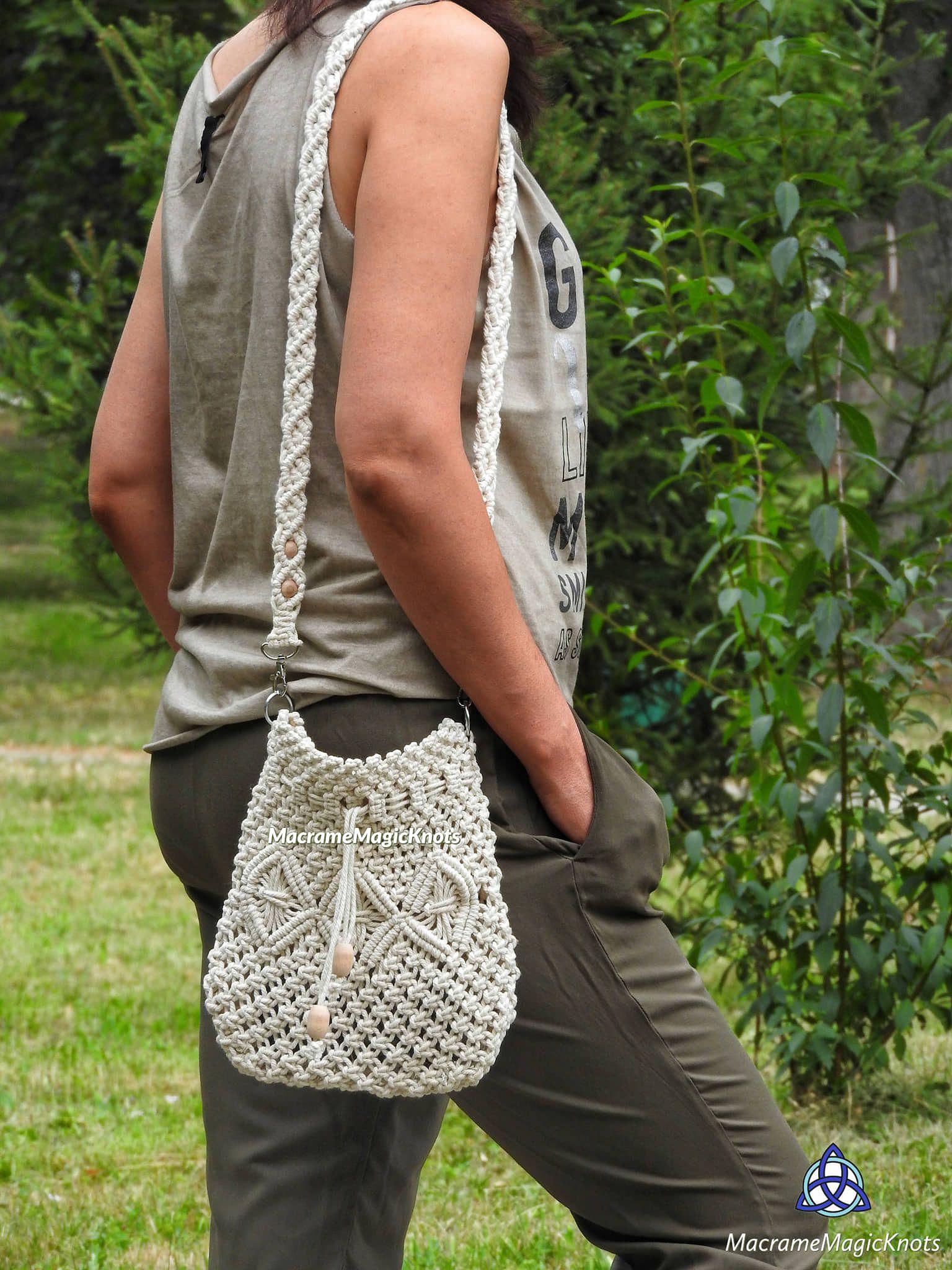 Macrame Bag Tutorial | Macrame Bag Pattern | Macrame Bag for Beginners | Macrame Pattern