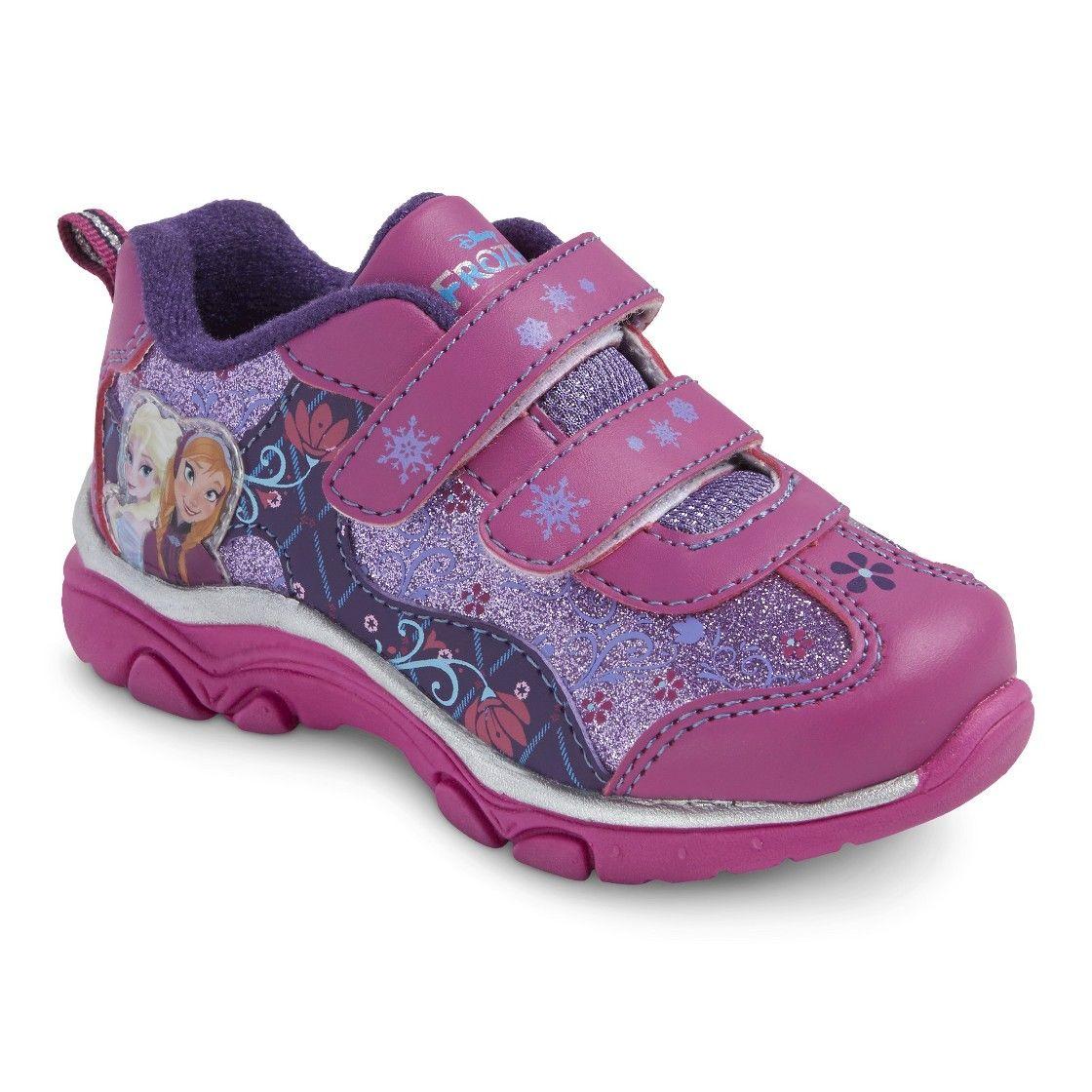 Disney Toddler Girl S Frozen Sneakers Fuchsia Frozen Shoes Disney Toddler Disney Shoes