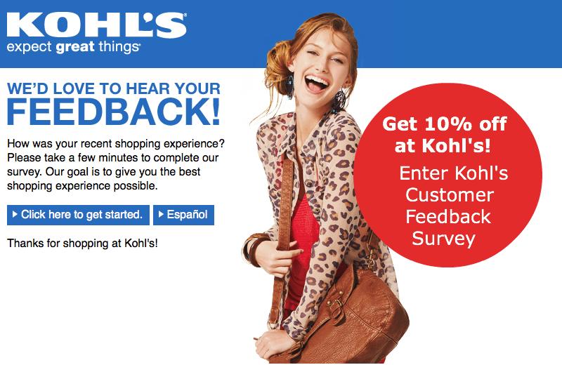 Kohl's InStore Survey Customer