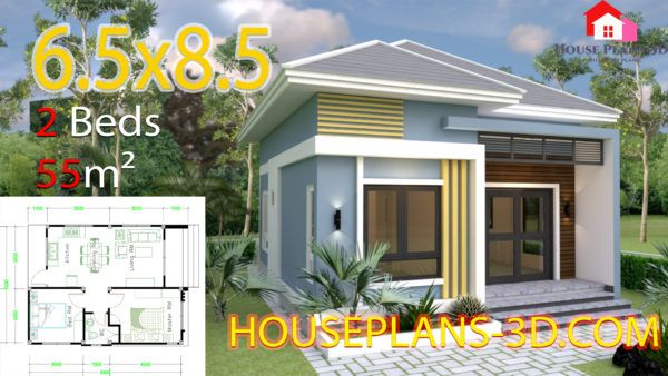 Simple House Design Plans 11x11 With 3 Bedrooms Full Plans House Plans 3d In 2020 Small House Design Plans Small House Design House Plans