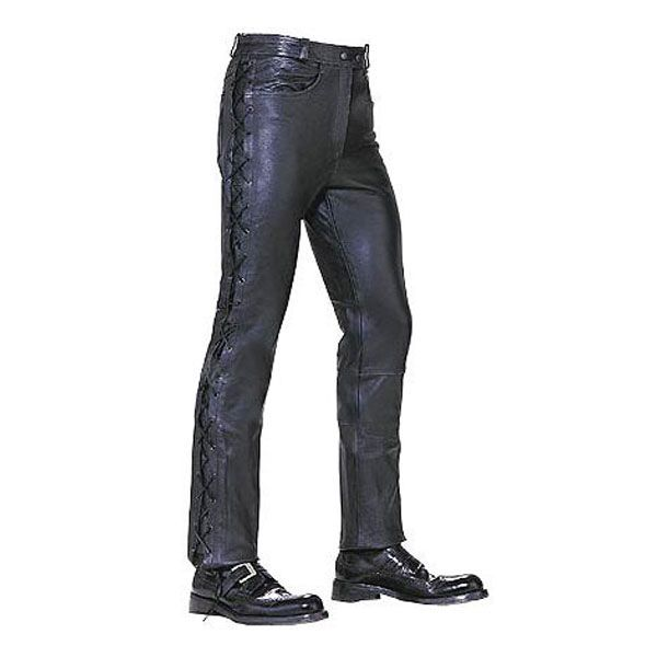 ab6fb1d2b6a1 Mens Leather Pants with Side Laces