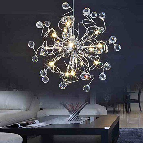 Mamei15 Lights Led Modern Crystal Chandelier Lighting For Living