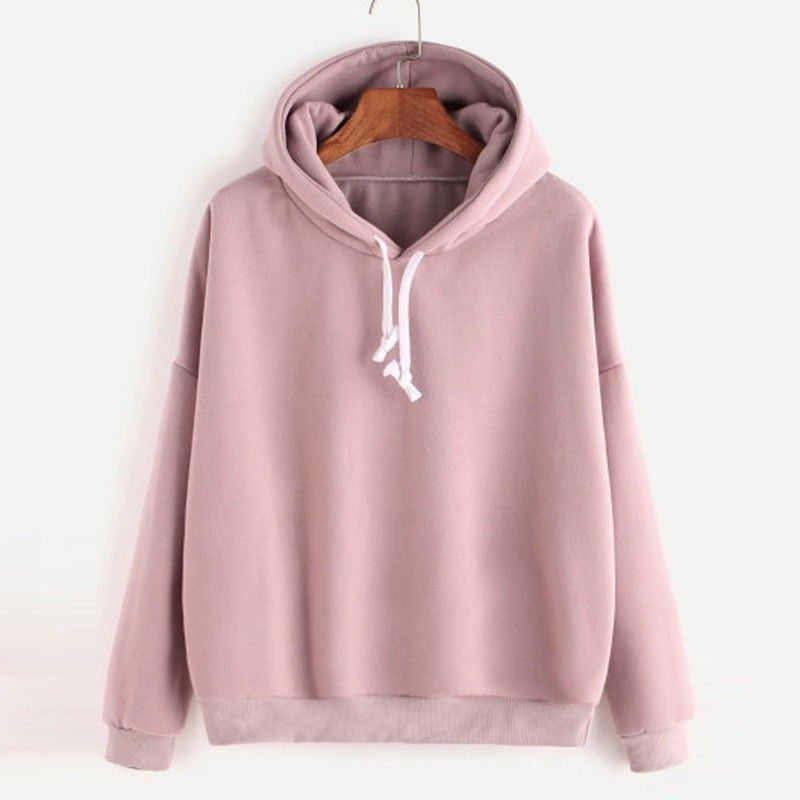 Fashion Women/'s Winter Casual Long Sleeve Hooded Solid Pullover Sweatshirt Tops