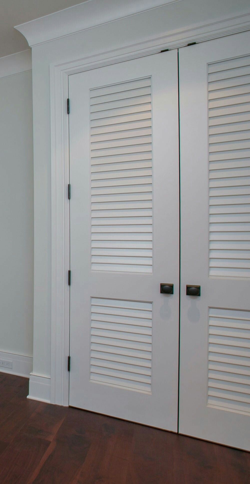 Basement Louvered Door Ventilation From Playroom To Laundry