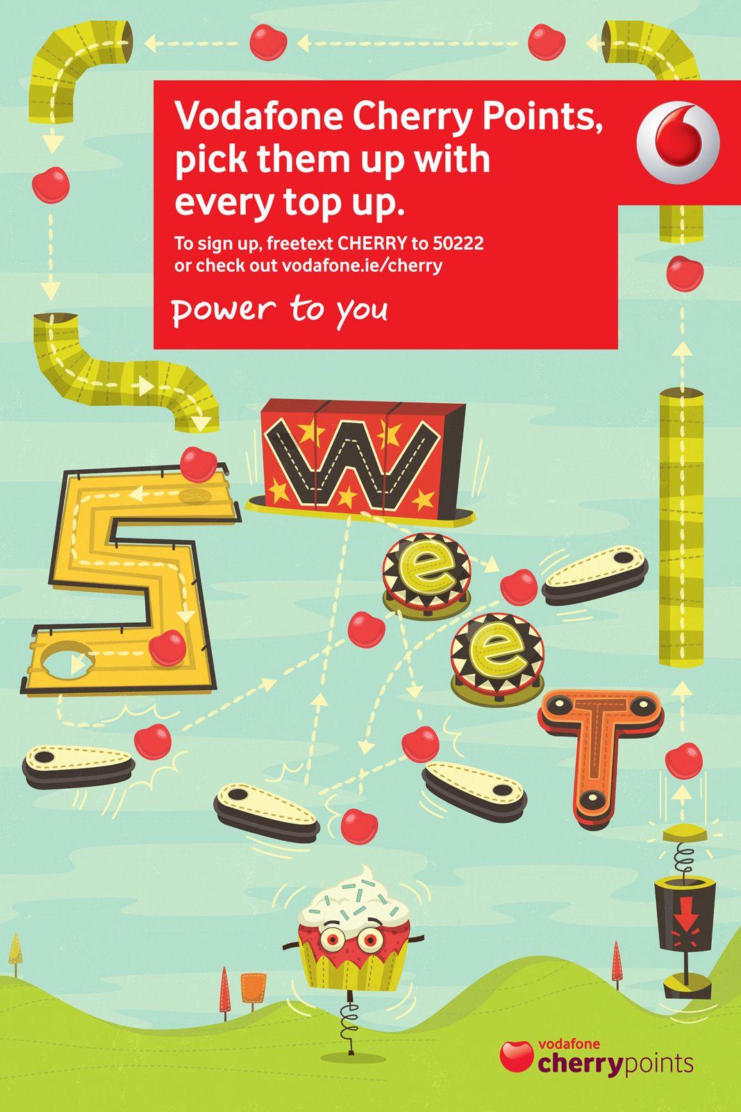 Vodafone Vodafone, Pointe, Pinball