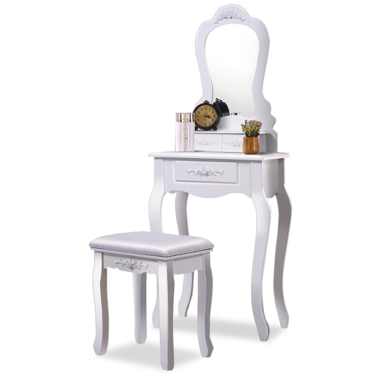 Amazing Compact Vanity Makeup Dressing Table Stool Set In 2019 Bralicious Painted Fabric Chair Ideas Braliciousco