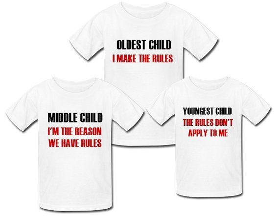 6ca843369a Funny matching sibling shirts. Matching brothers shirts. Matching sibling  shirts set of 3. Triplet shirts. Girl sibling shirt. Mom of 3 gift