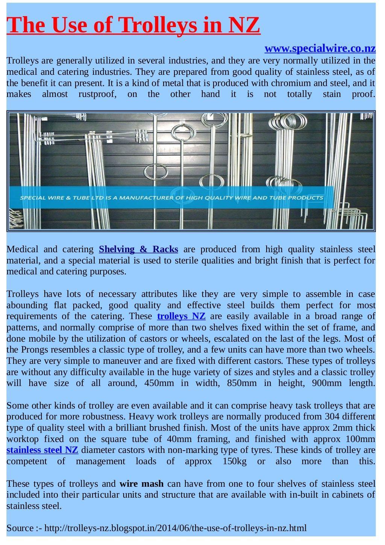 Stainless Steel #Trolleys in NZ #stainlesssteel   Special Wire ...