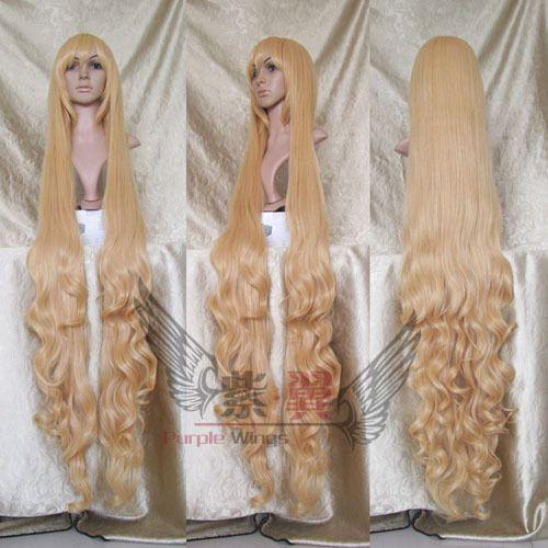 Amazing golden 150CM curly GOSICK cosplay full wig+hairnet #FullWig