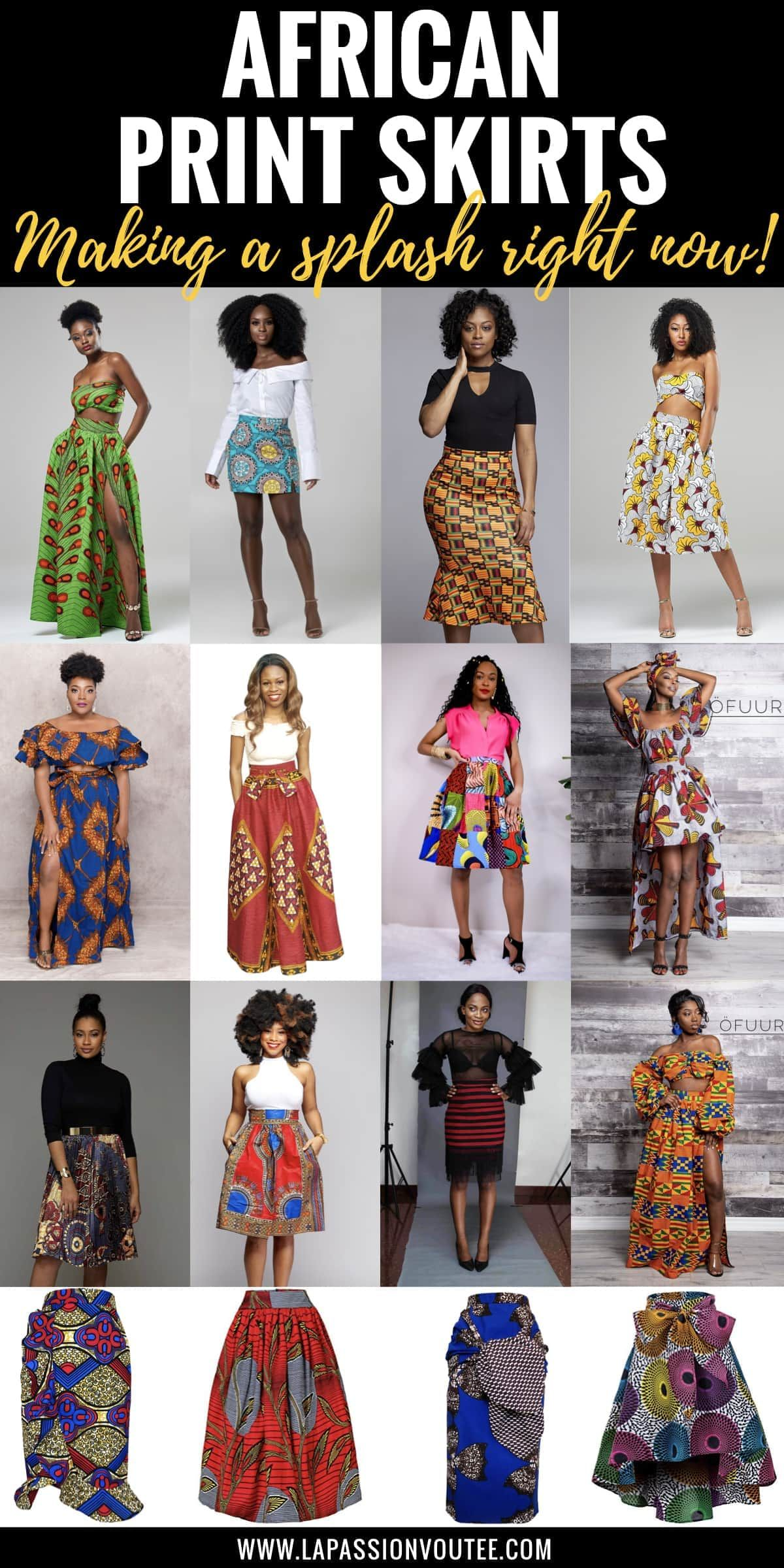 23 Hottest African Print Skirts for Women in 2021