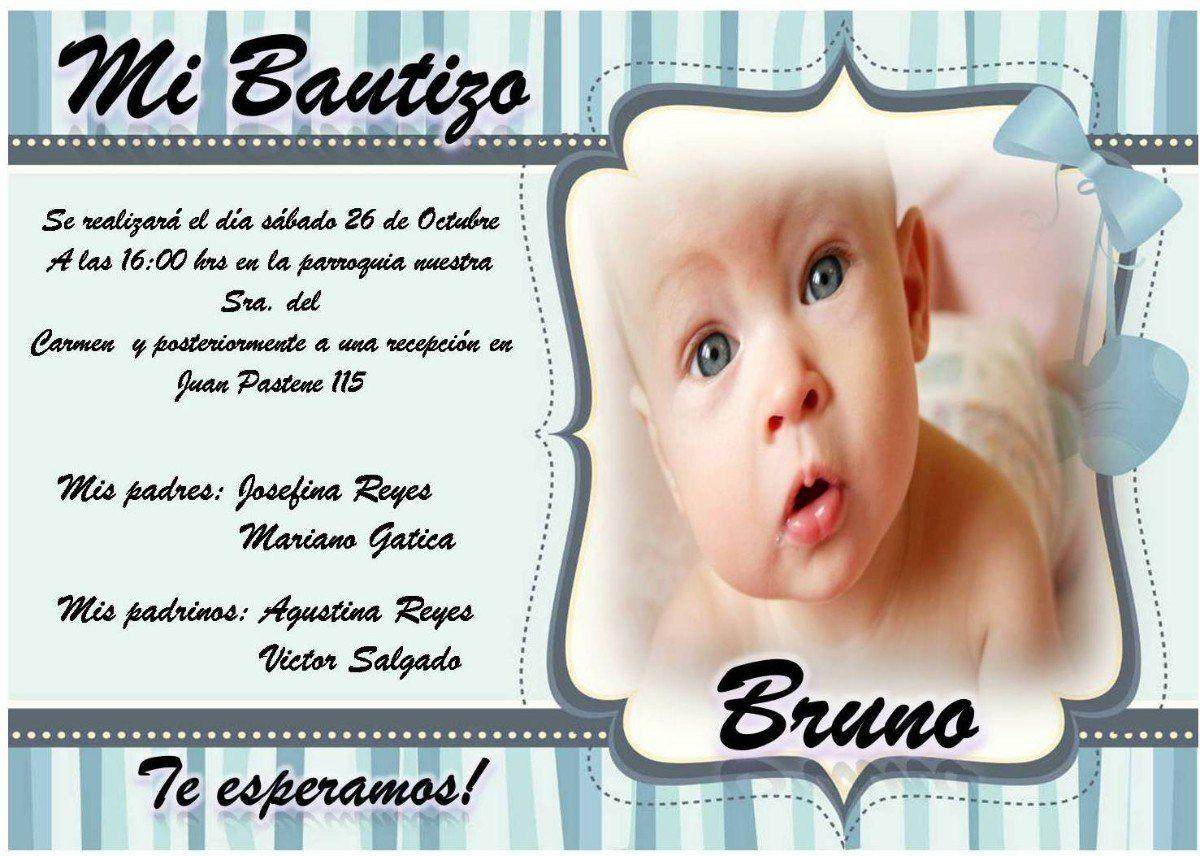 Descargar Invitaciones De Bautizo Editables Gratis Buscar
