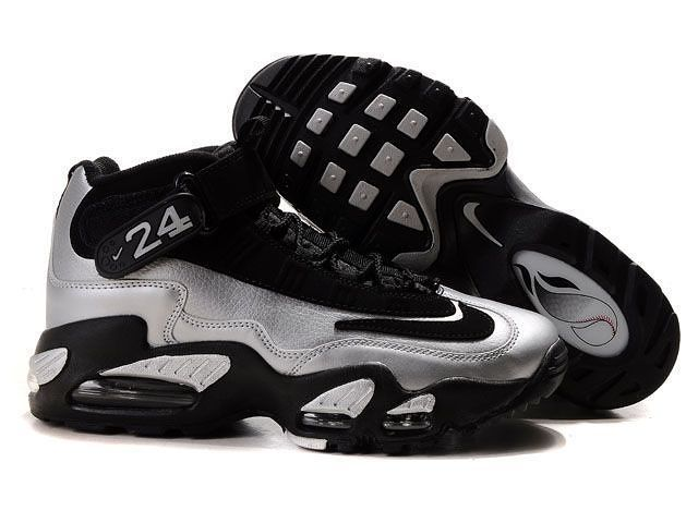 cheap for discount e0eeb 72ab6 Nike Ken Griffey Shoes Black Silver