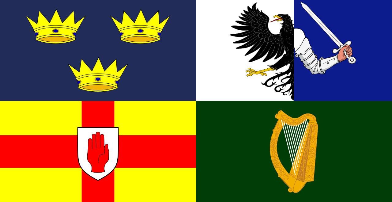 Four Provinces Flag Of Ireland Troubles Ireland Pinterest