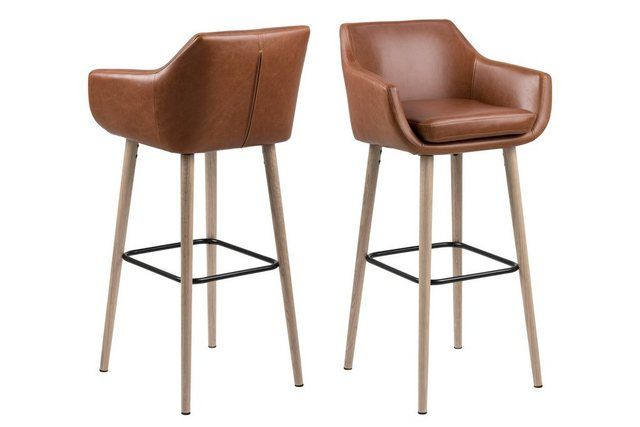 1 Barhocker New York Handmade Industriedesign Loft Stahl Holz Eiche Massiv Sitzhohe 78 Cm In 2020 Bar Stools Standing Table Modern Bar Stools