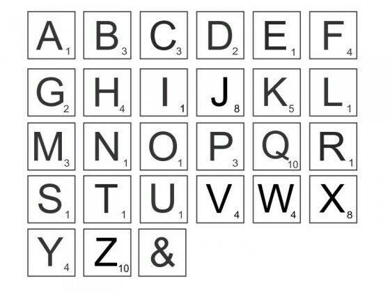 Scrabble Wand Selber Machen Buchstaben Deko Grosse Buchstaben Babyzimmer Gestalten