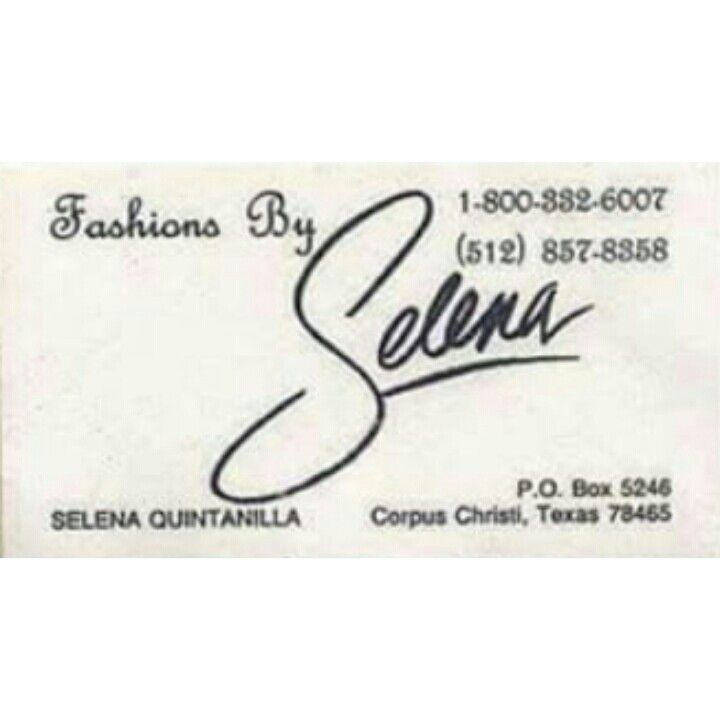 This is so cool selena business card selena quintanilla selena business card her actual card wow colourmoves Image collections