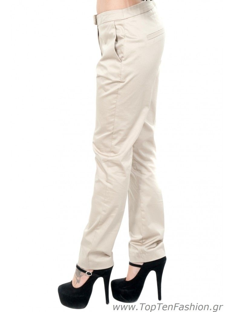 01127e487265 BSB Γυναικείο χαμηλοκάβαλο υφασμάτινο τσίνος παντελόνι