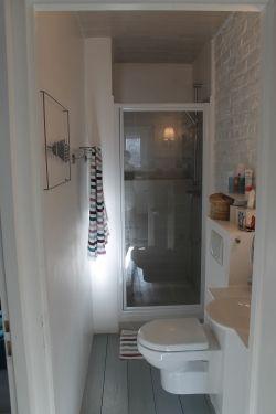 Salle d 39 eau en longueur salle de bains pinterest - Amenagement salle de bain en longueur ...