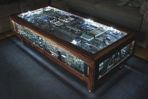 Circuit Board Table Is Geek Furniture Gold Diy Coffee Table