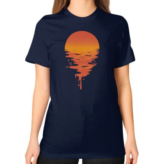 Sunset 6 Unisex T-Shirt (on woman)
