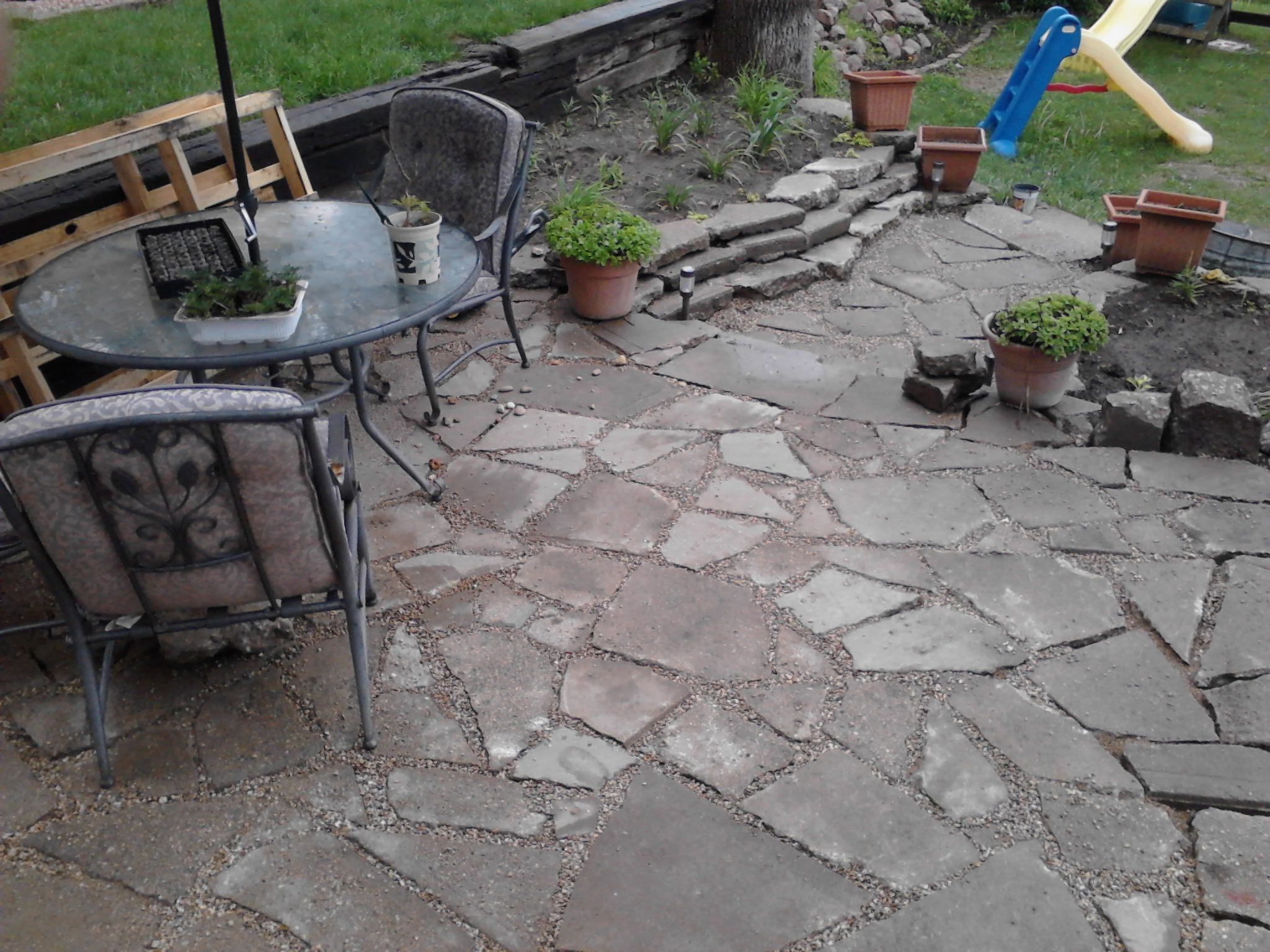 Attractive Recycled Concrete Patio
