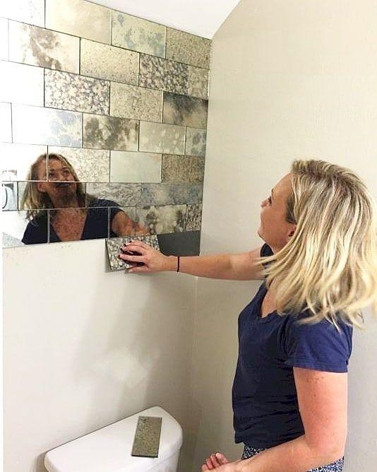 """Anne????Edebiyatçı????DIY???????? BOYAMA???? on Instagram: """"Eskitme ayna parçaları ile guzel bir dekor fikri ???????? bu boylarda kestirdiginiz  camlara ayna efekt boya sıkıp eskitmeler yapabilirsiniz…"""" #downstairsloo"""