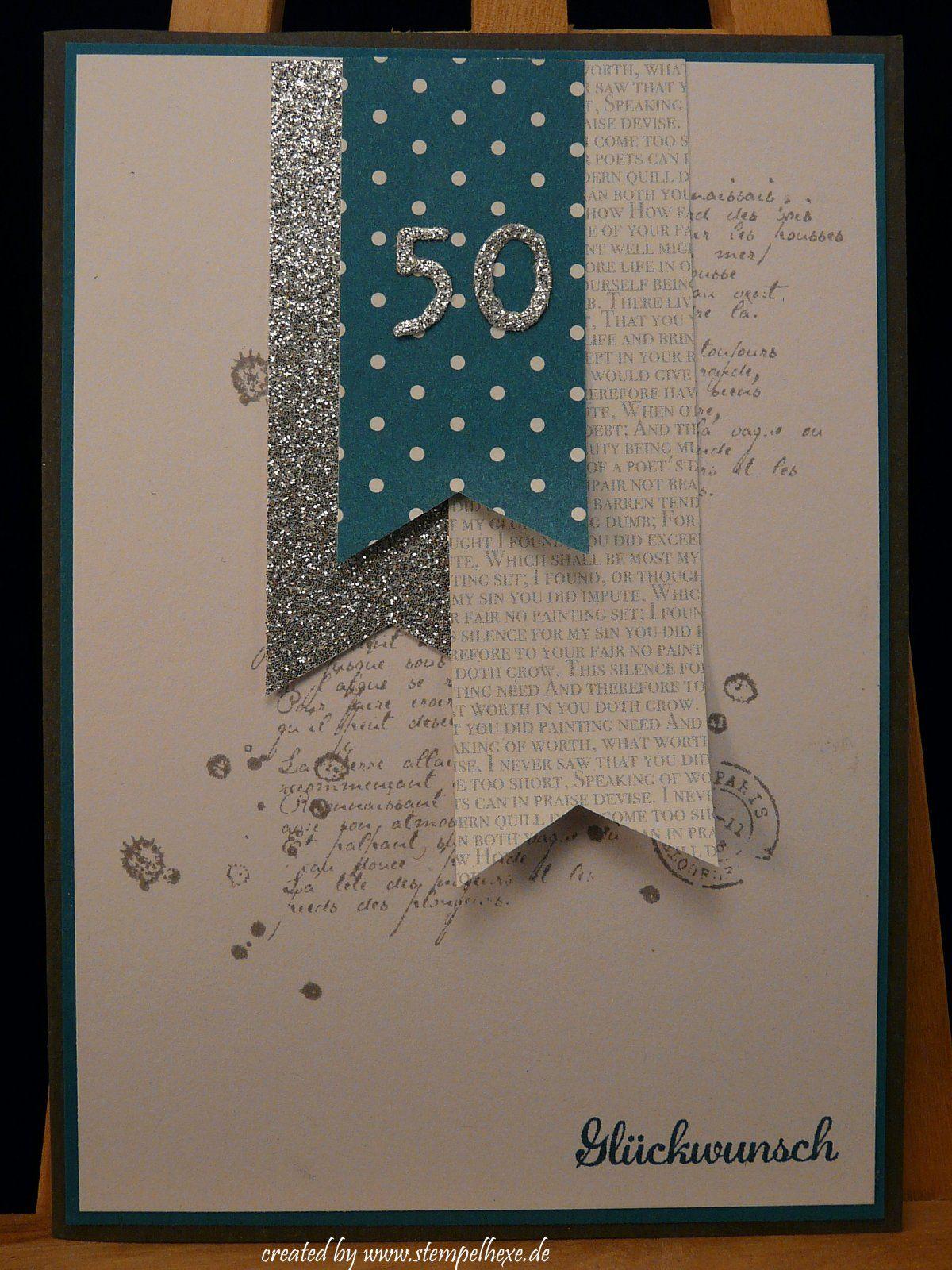 Geburtstagskarten basteln zum 50