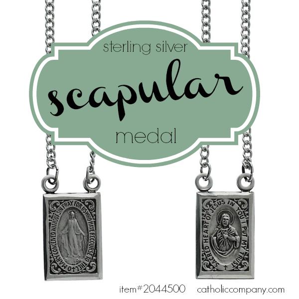 An elegant sterling silver Scapular Medal + Miraculous Medal #CatholicCompany