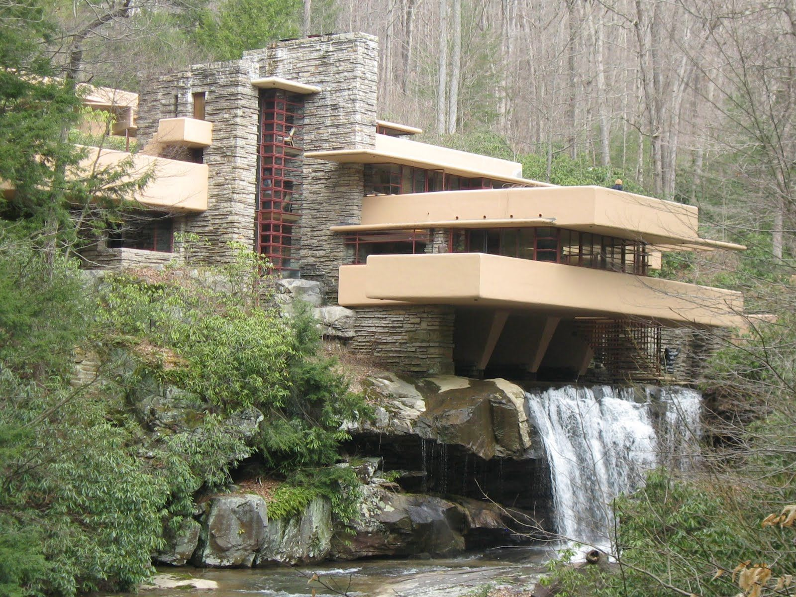 Best Falling Water And Monticello Field Trip Waterfall House 400 x 300