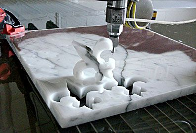 OMAX waterjet cutting marble | Material: Marble in 2019