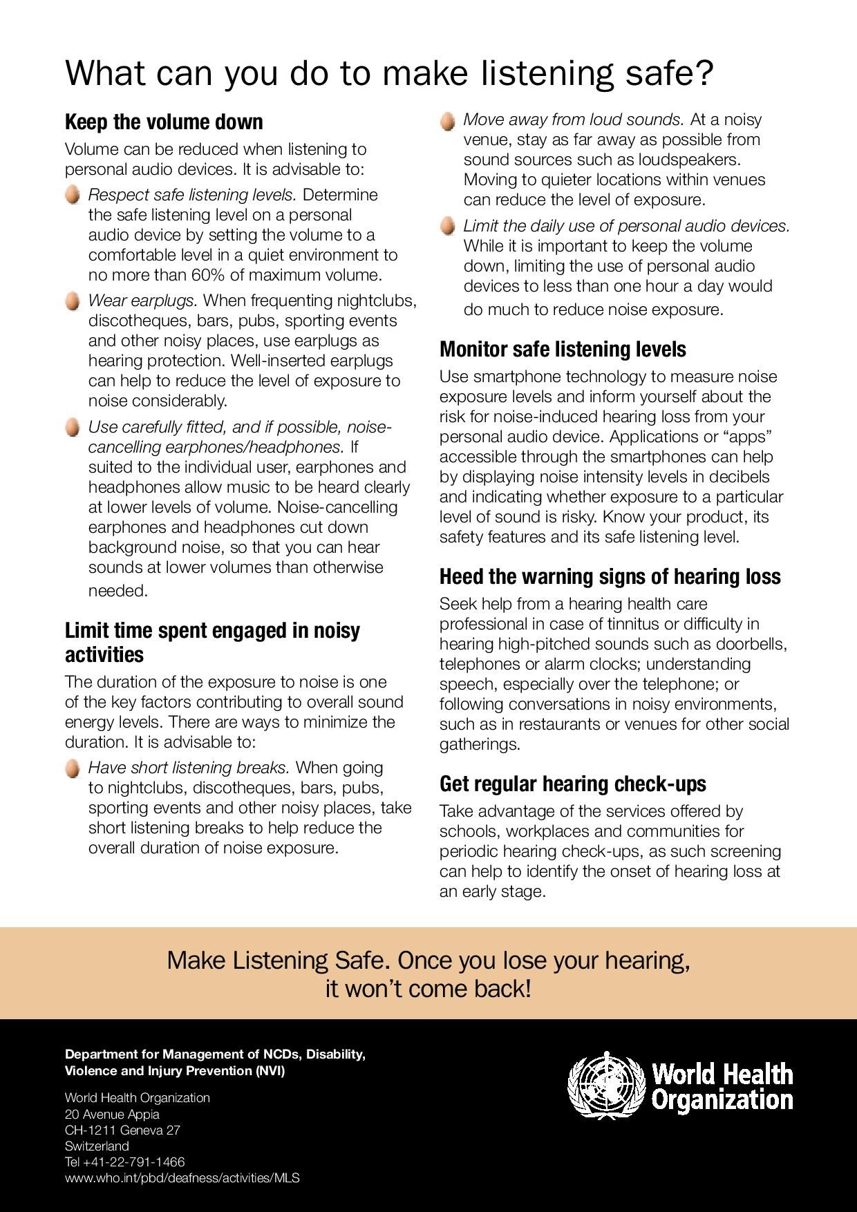 International Ear Care Day 2015   Protect Your Hearing