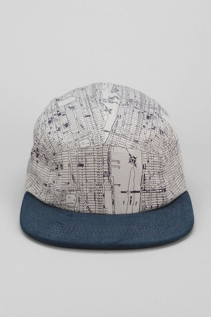 5ab81751a29 Rosin NY Maps 5-Panel Hat