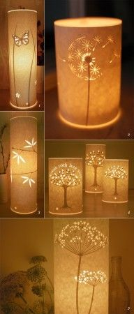 Paper Lamps With some paper and a little artistic talent, you can create lighted artwork sure to take your breath away. ~~ 67+ Amazing DIY Lighting Ideas - Page 3 of 9 - trendsandideas.com