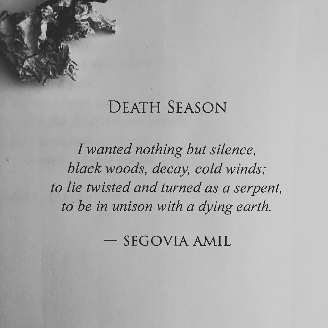 Suicide Poems And Quotes: Death Season By Segovia Amil Www.segoviaamilpoetry.com