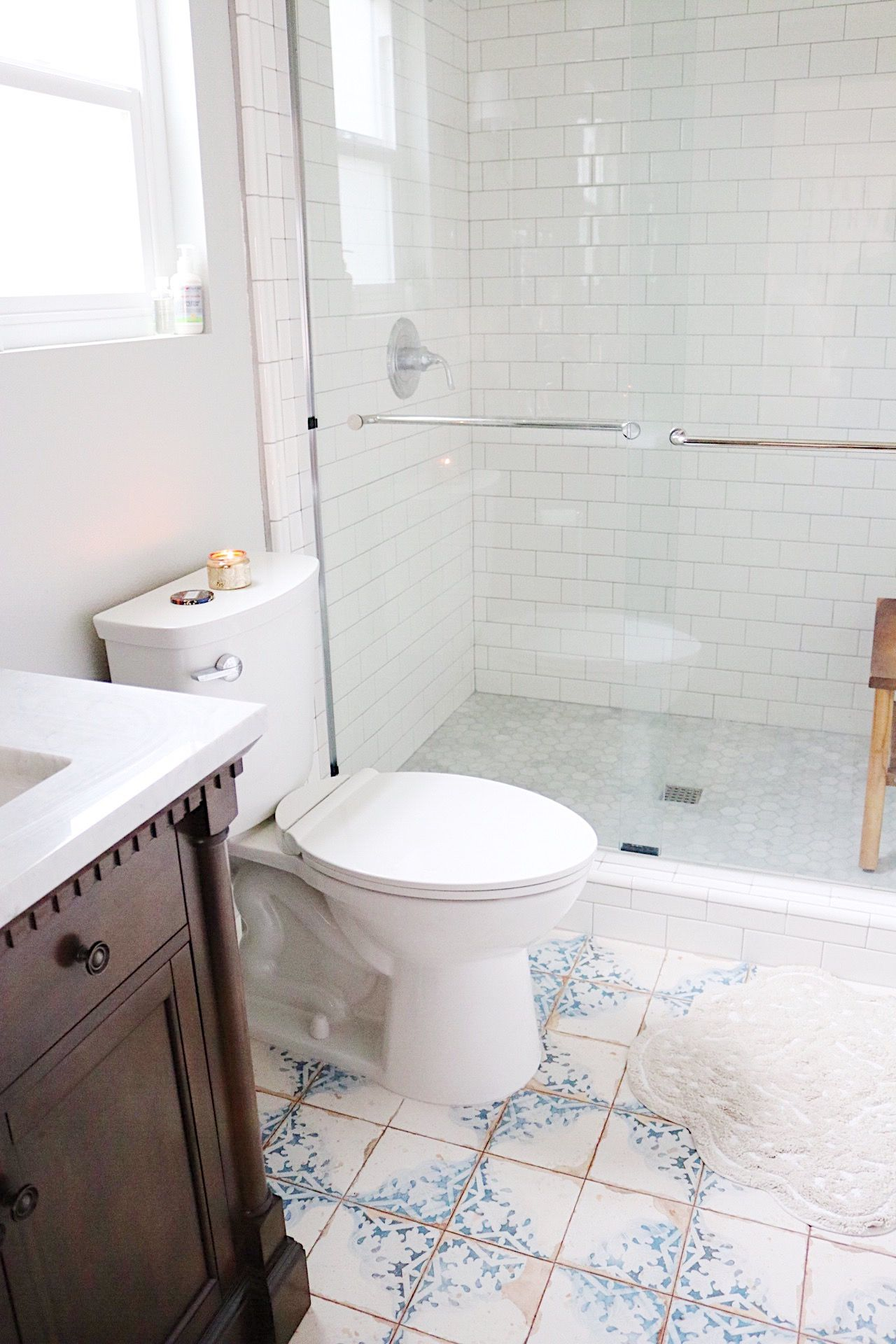 Master Bathroom Renovation Bathroom Decor Tile Floors, Subway Tile And