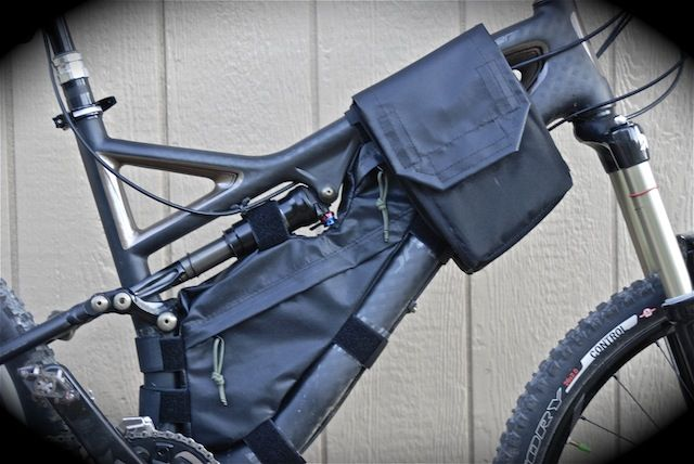Tactical top-tube saddlebags and Framebag  For a Specialized