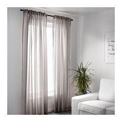 VIVAN Curtains 1 Pair Gray
