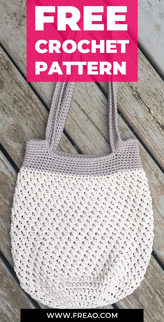 Projects Boho crochet Market Tote Bag free pattern