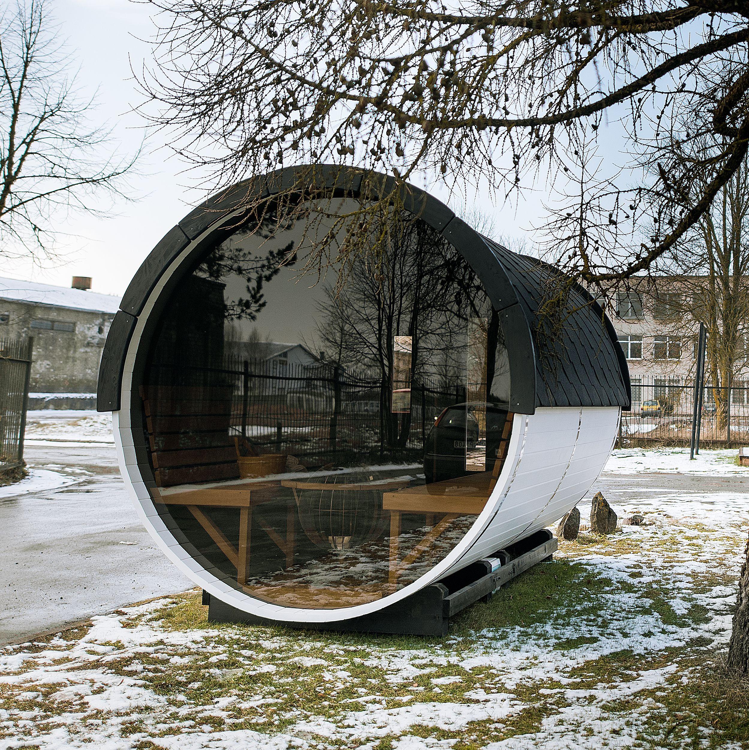 tonneau sauna vitré | Chalet tonneau insolite en 2019 ...