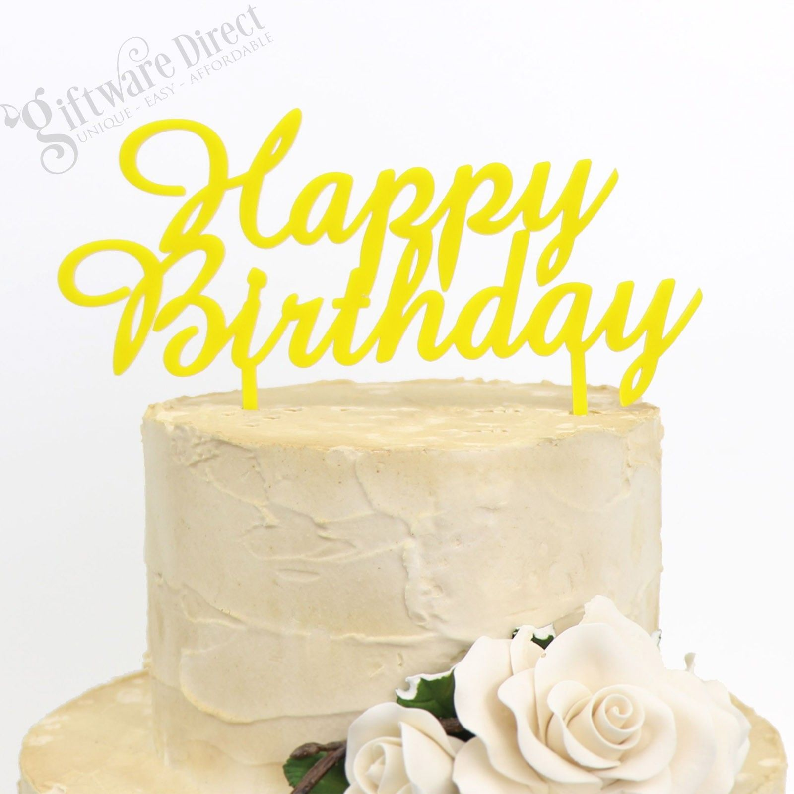 This Happy Birthday cake topper will showcase your cake in style on ...