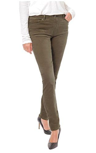 Buffalo Womens Mid Rise Stretch Skinny Velvet Pant Check This