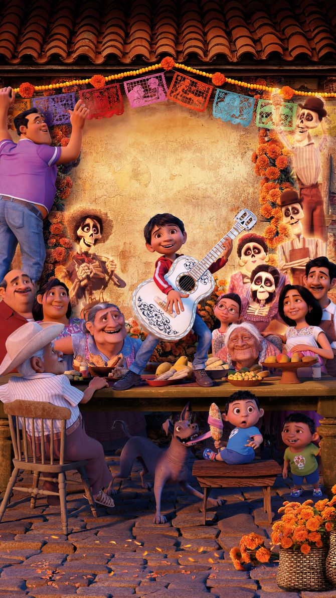 Coco (2017) Phone Wallpaper   Animasyon, Animasyon filmler ve Disney çizimleri